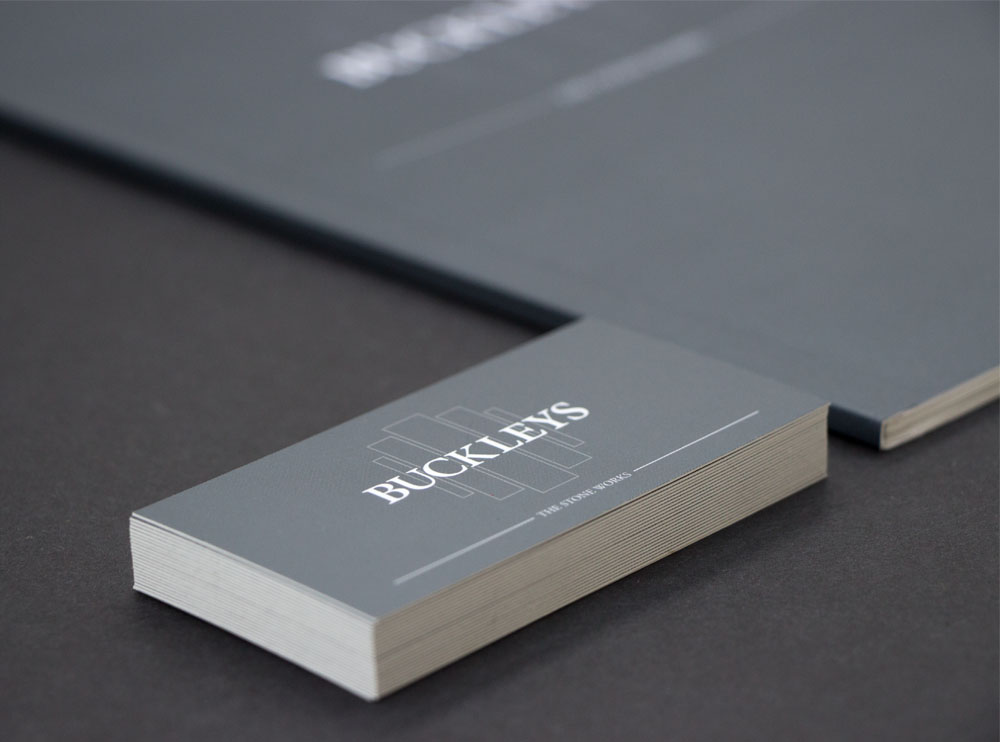 Buckleys business card front
